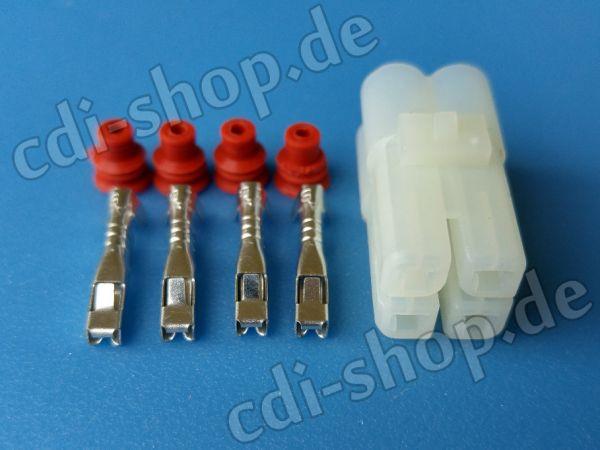 CDI Stecker 4-pin mit Dichtungskappen