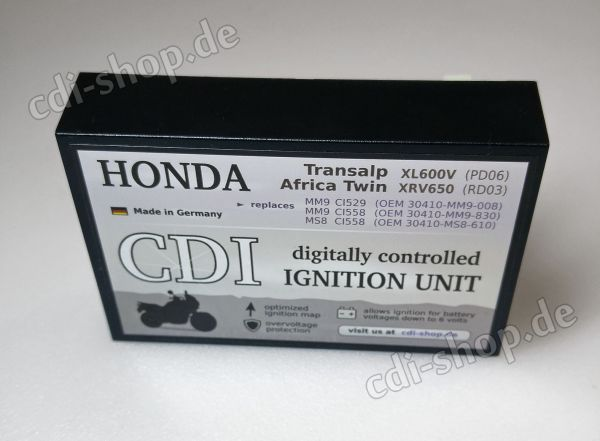 Digitale CDI für Honda Transalp XL600V (PD06), XRV650 Africa Twin (RD03)