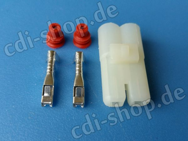 CDI Stecker 2-pin mit Dichtungskappen
